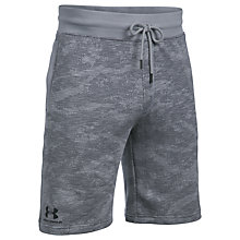 Buy Under Armour Camo Fleece Shorts, Steel Online at johnlewis.com