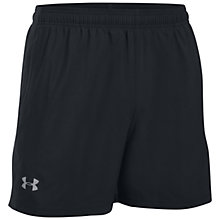 "Buy Under Armour Launch SW 5"" Running Shorts, Black Online at johnlewis.com"