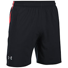 "Buy Under Armour Launch 7"" Running Shorts, Black/Red Online at johnlewis.com"