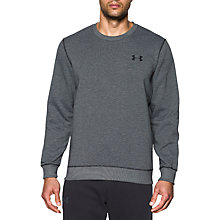 Buy Under Armour Storm Rival Fleece Crew Neck Sweatshirt, Black Online at johnlewis.com