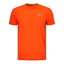 Buy Under Armour Streaker Short Sleeve Running T-Shirt, Orange Online at johnlewis.com