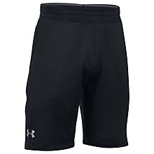 Buy Under Armour Tech Terry Training Shorts, Black Online at johnlewis.com