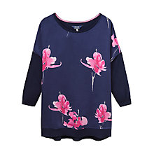 Buy Joules Kitty Floral Print Jumper, Navy Orchid Online at johnlewis.com