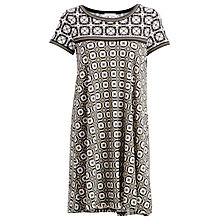 Buy Max Studio Printed Jersey Dress, Black/Olive Online at johnlewis.com