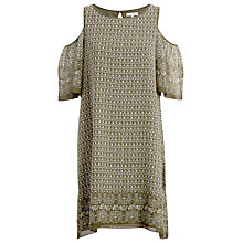 Buy Max Studio Cold Shoulder Printed Dress, Olive Online at johnlewis.com