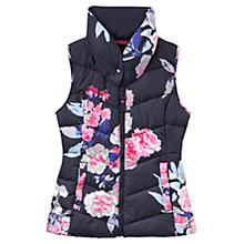 Buy Joules Merriton Floral Print Padded Gilet, Navy Print Online at johnlewis.com