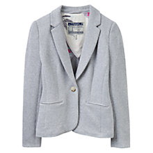 Buy Joules Justine Textured Jersey Blazer, Grey Marl Online at johnlewis.com