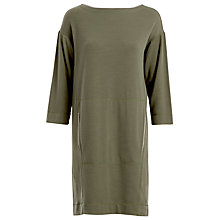 Buy Max Studio Relaxed Jersey Dress, Army Green Online at johnlewis.com