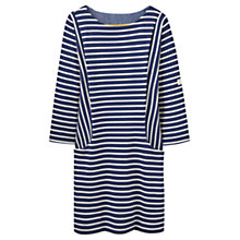 Buy Joules Britanny Stripe Jersey Dress, Navy/White Online at johnlewis.com