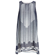 Buy Max Studio Sleeveless Printed Dress, Navy/Aqua Pixel Online at johnlewis.com