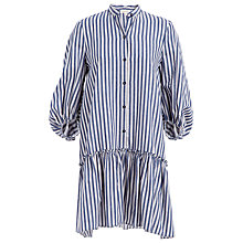 Buy Max Studio Stripe Shirt Dress, Denim Blue/Chambray Stripe Online at johnlewis.com