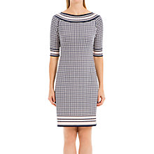 Buy Max Studio Border Spot Print Jersey Dress, Navy/Soft Pink Online at johnlewis.com
