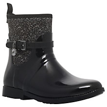 Buy MICHAEL Michael Kors Charm Stretch Rainbooties, Black/White Online at johnlewis.com