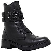 Buy Miss KG Sax Embellished Lace Up Boots, Black Online at johnlewis.com