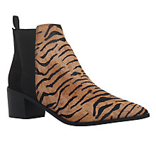Buy Miss KG Senta Pointed Toe Ankle Boots, Tan Comb Online at johnlewis.com