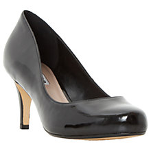 Buy Dune Amelia Cone Heeled Court Shoes, Black Online at johnlewis.com