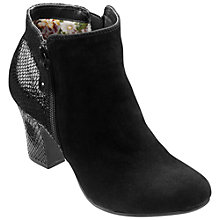 Buy Hotter Divine Leather Ankle Boots, Black Online at johnlewis.com