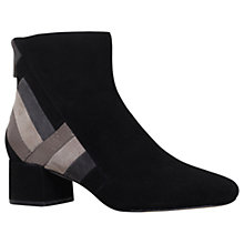 Buy MICHAEL Michael Kors Rosamund Low Block Heel Ankle Boots, Black Suede Online at johnlewis.com