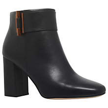 Buy MICHAEL Michael Kors Gloria Leather Ankle Boots, Black Online at johnlewis.com