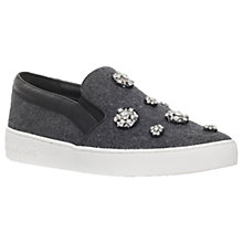 Buy MICHAEL Michael Kors Keaton Slip On Trainers, Dark Grey Online at johnlewis.com