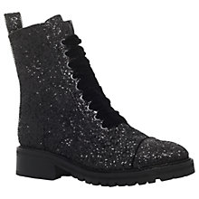 Buy KG by Kurt Geiger Sparkle Lace Up Ankle Boots, Black Online at johnlewis.com