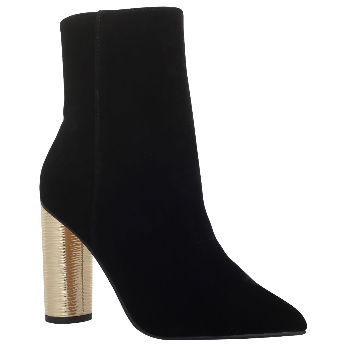 KG by Kurt Geiger KG by Kurt Geiger Reign Pointed Toe High Block Heel Ankle Boots, Black Velvet