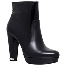 Buy MICHAEL Michael Kors Sabrina High Cone Heel Ankle Boots, Black Leather Online at johnlewis.com