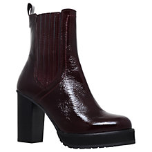 Buy KG by Kurt Geiger Storm Block Heeled Ankle Boots, Wine Online at johnlewis.com