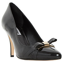 Buy Dune Anora Stiletto Heeled Bow Court Shoes, Black Online at johnlewis.com