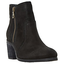Buy Dune Pryce Block Heeled Ankle Boots, Black Online at johnlewis.com