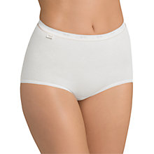 Buy Sloggi 3 Pack Basic+ Gold Maxi Briefs, White Online at johnlewis.com