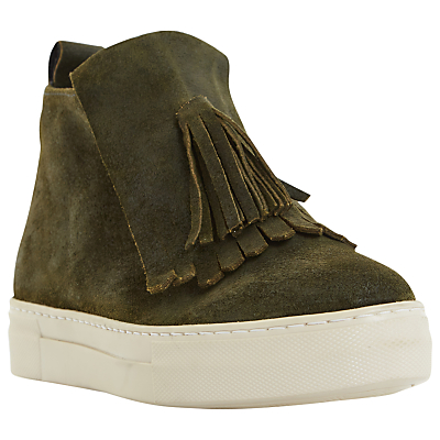 Dune Black Emperor Fringed High Top Trainers