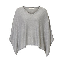 Buy Betty Barclay Fine Knit Poncho, Light Grey Melange Online at johnlewis.com