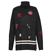 Buy French Connection Allegro Stitch Jumper, Black/Multi Online at johnlewis.com