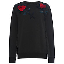Buy French Connection Posey Pop Jumper, Black/Multi Online at johnlewis.com