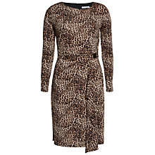 Buy Gina Bacconi Leopard Print Slinky Dress, Beige Online at johnlewis.com
