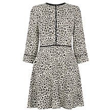 Buy Oasis Animal Print Skater Dress, Multi/Grey Online at johnlewis.com