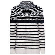 Buy French Connection Norway High Neck Jumper, Classic Cream/Black Online at johnlewis.com