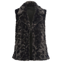 Buy French Connection Nariko Faux Fur Gilet, Grey Online at johnlewis.com