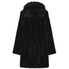 Buy Gerard Darel Plume Faux Fur Coat, Black Online at johnlewis.com