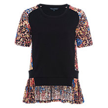 Buy French Connection Flora Jersey Lace Top, Multi Online at johnlewis.com