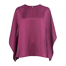 Buy French Connection Sasha Satin Blouse, Dark Magenta Online at johnlewis.com