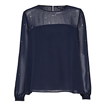 Buy French Connection Arctic Sparkle Blouse Online at johnlewis.com