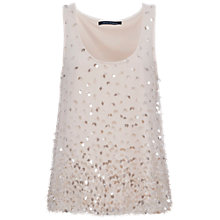 Buy French Connection Sedgwick Sparkle Sleeveless Top Online at johnlewis.com