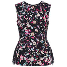 Buy French Connection Midnight Bloom Plains Top, Black/Multi Online at johnlewis.com