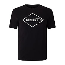 Buy Carhartt WIP Diamond T-Shirt, Black/White Online at johnlewis.com