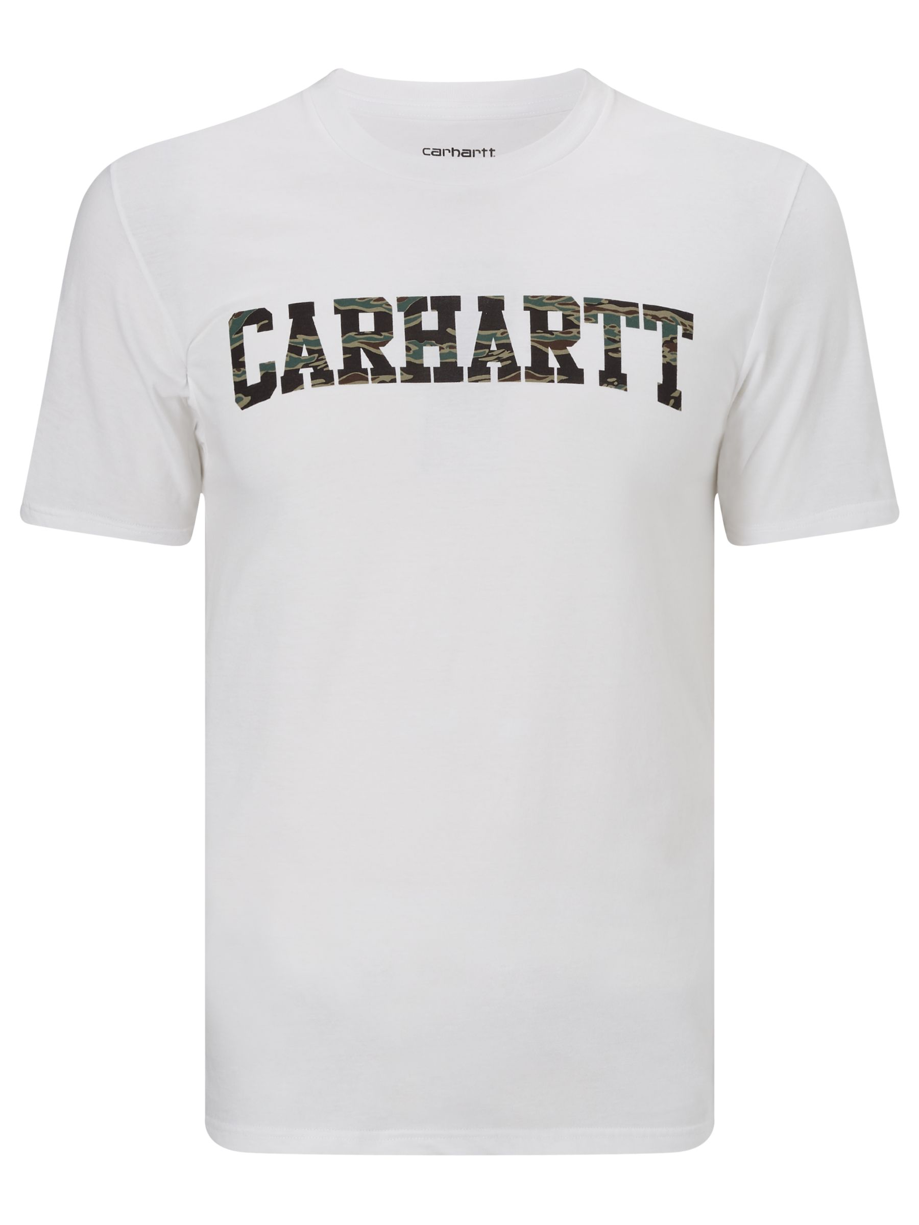 Carhartt WIP Carhartt WIP College T-Shirt, White/Camo Tiger