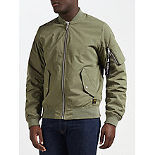 Buy Carhartt WIP Adams Bomber Jacket, Dollar Green Online at johnlewis.com