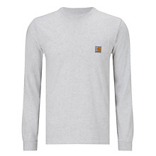 Buy Carhartt WIP Pocket Long Sleeve T-Shirt, Ash Heather Online at johnlewis.com