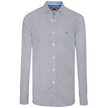 Buy Tommy Hilfiger Brian Cotton Poplin Slim Fit Shirt, Medieval Blue/Monument Online at johnlewis.com